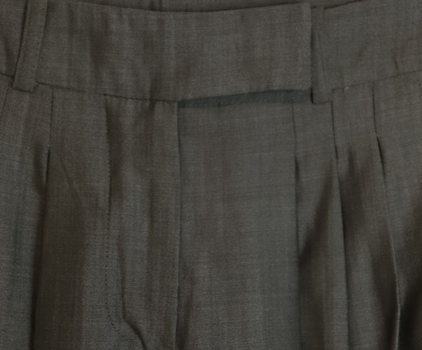 Max Mara Grey Wool Silk Pants 4