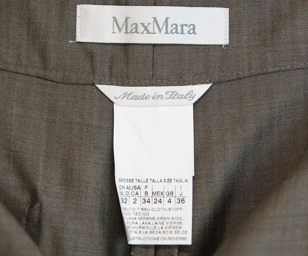 Max Mara Grey Wool Silk Pants 3