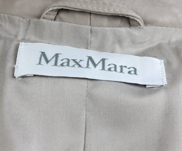 Vest Max Mara Neutral Taupe Leather Outerwear 4