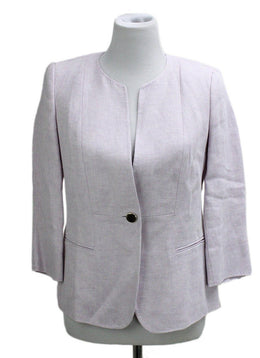 Max Mara Size 6 Purple Lilac Cotton Jacket