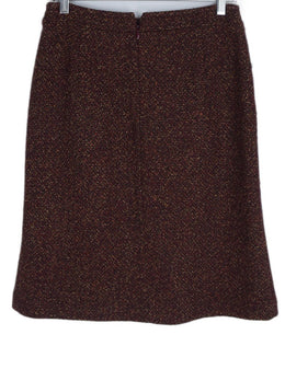 Max Mara Red Burgundy Brown Wool Skirt 2