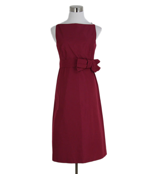Max Mara Red Wine Silk Short Dress 1
