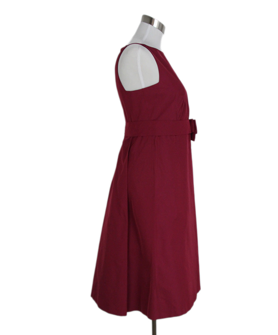 Max Mara Red Wine Silk Short Dress 2