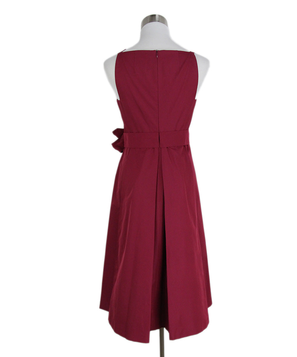 Max Mara Red Wine Silk Short Dress 3