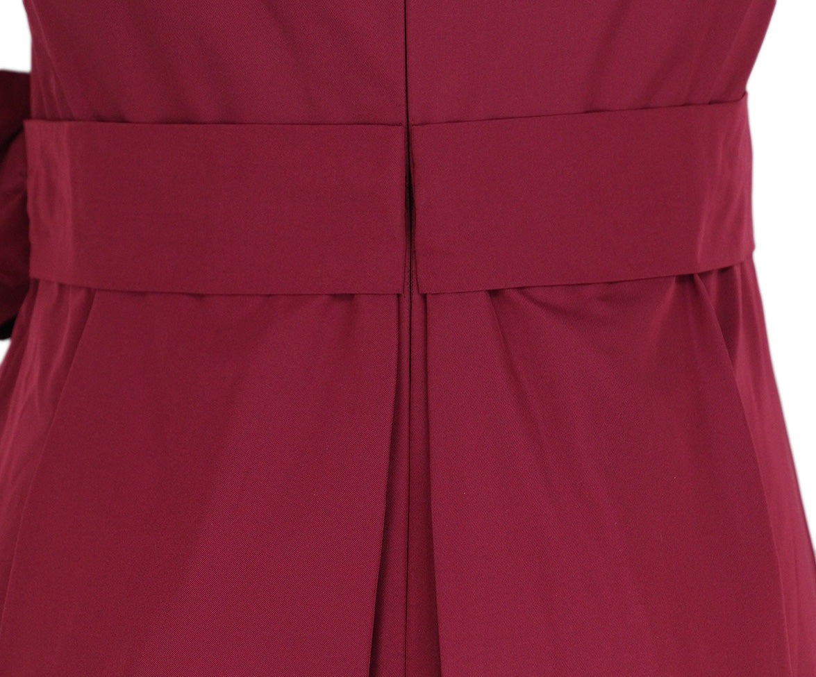 Max Mara Red Wine Silk Short Dress 6