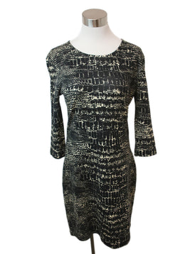 Mc Q Black Print Cotton Dress 1