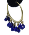 Me & Ro Blue Lapis 18 K Gold Jewelry Earrings 5