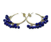 Me & Ro Blue Lapis 18 K Gold Jewelry Earrings 3