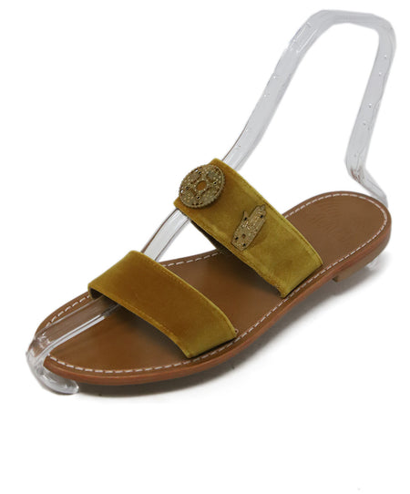 Roger Vivier Brown Leather Sandals Sz 41.5