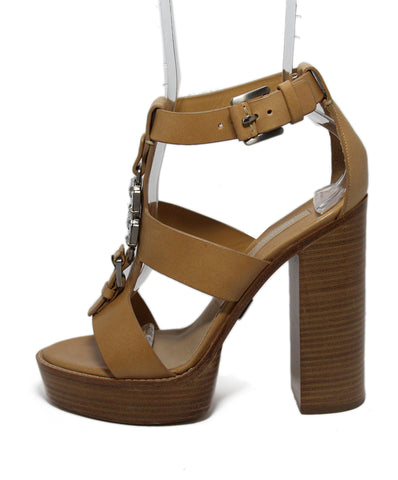 Michael Kors Beige Leather Rhinestone Heels 1