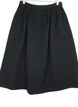 Michael Kors Black Damask Cotton Rayon Skirt 2