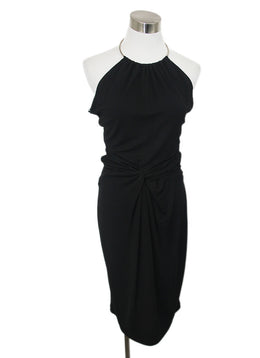 Michael Kors Black Rayon Metal Halter Dress 1