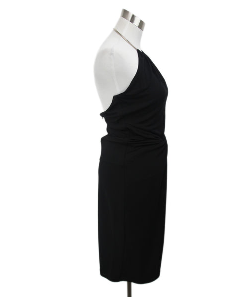 Michael Kors Black Rayon Metal Halter Dress 2