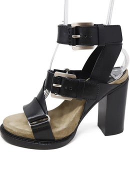 Michael Kors Black Leather Buckle Trim Shoes 1