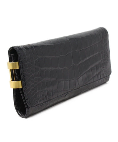 Michael Kors Black Pressed Leather Clutch 1