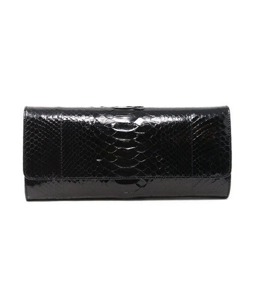 Michael Kors Black Python Clutch 1