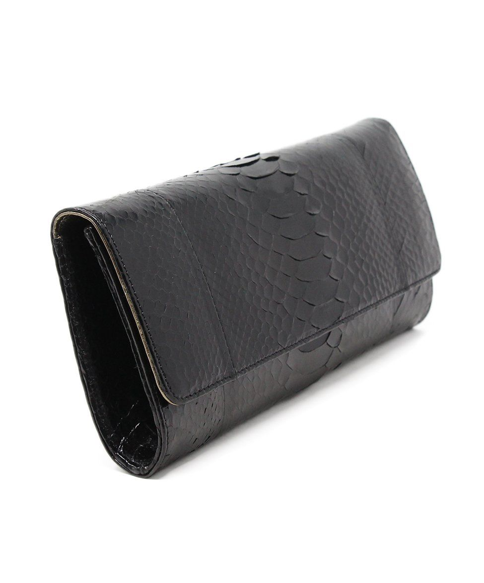 Michael Kors Black Python Clutch 2