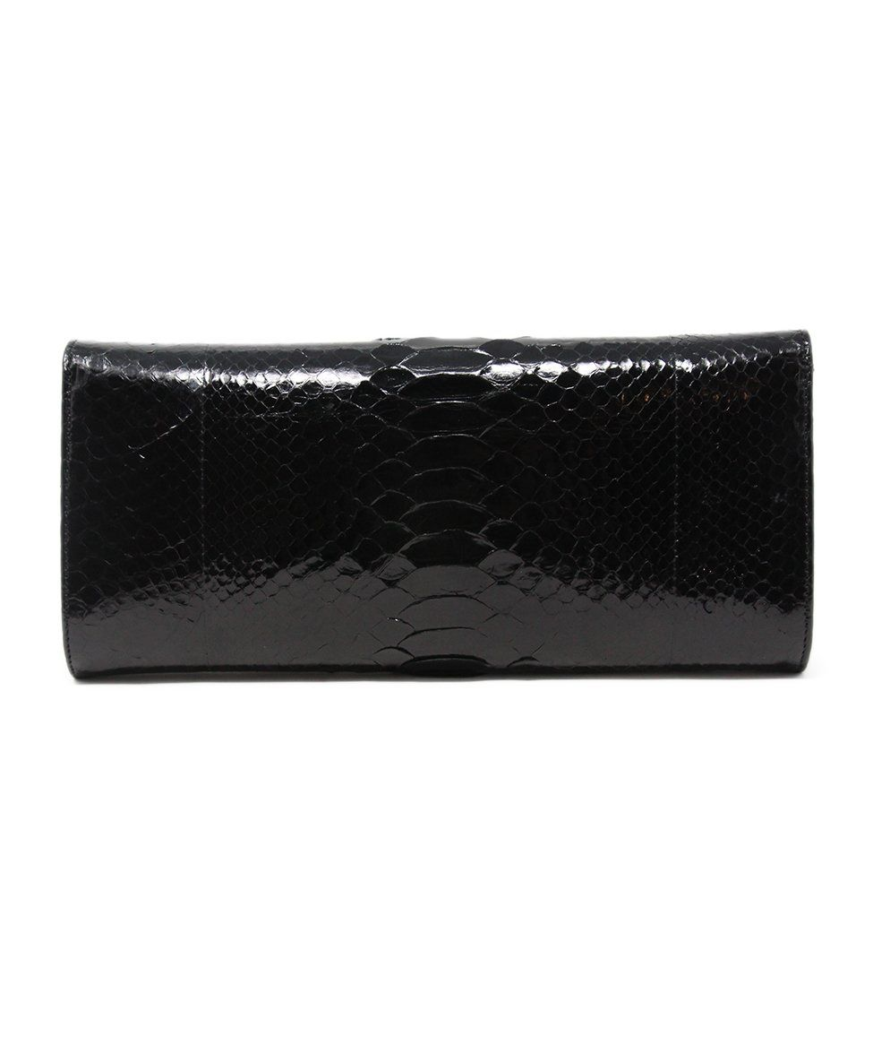 Michael Kors Black Python Clutch 3
