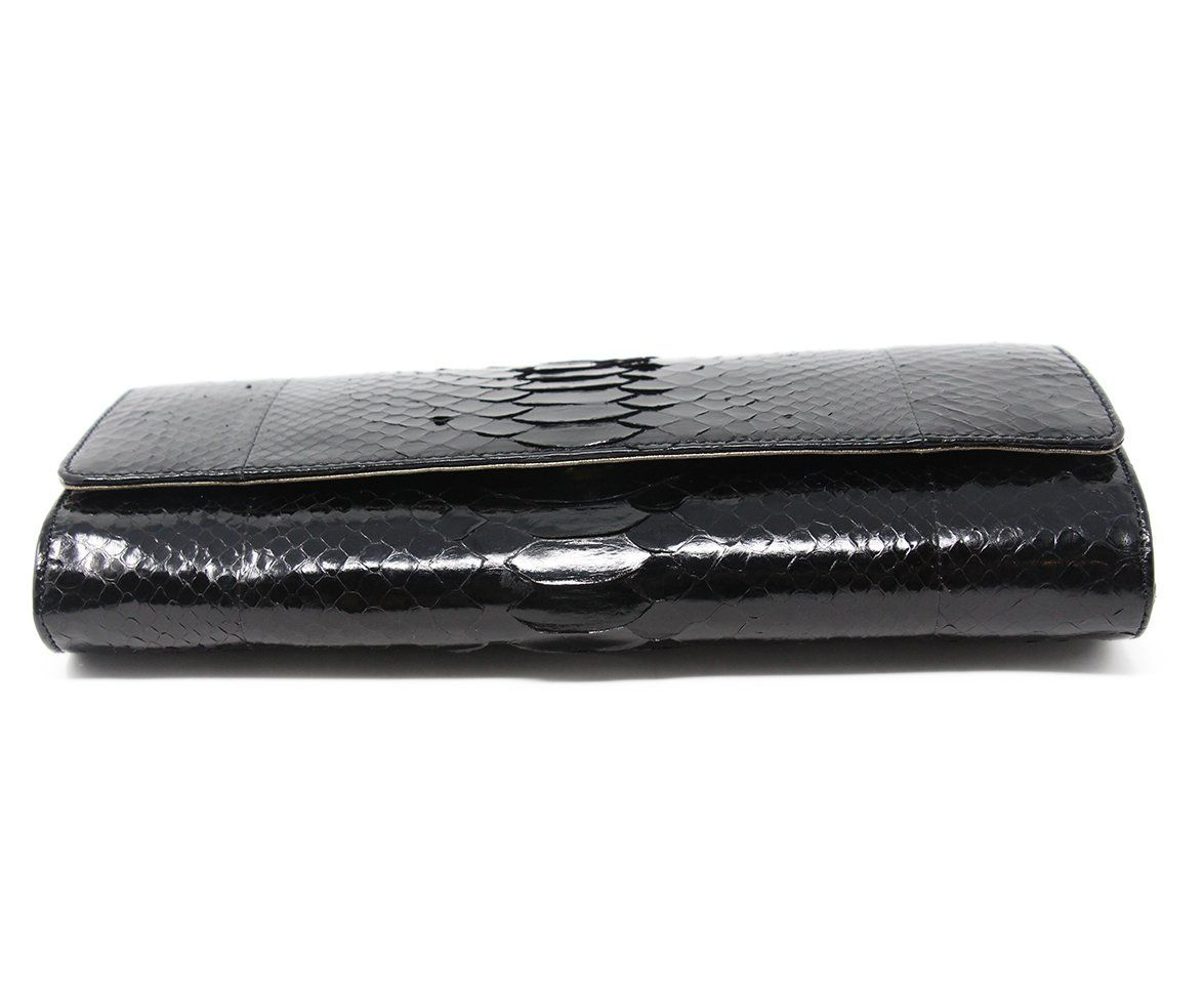 Michael Kors Black Python Clutch 4