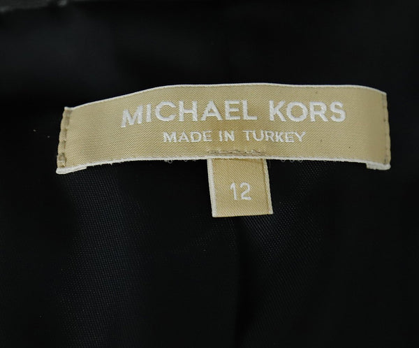 Michael Kors Black Quilted Leather Jacket Outerwear 4