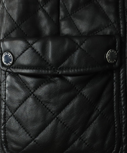 Michael Kors Black Quilted Leather Jacket Outerwear 5