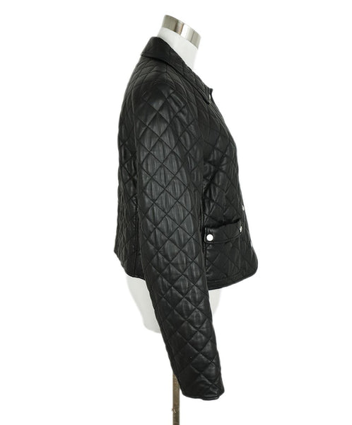 Michael Kors Black Quilted Leather Jacket Outerwear 2