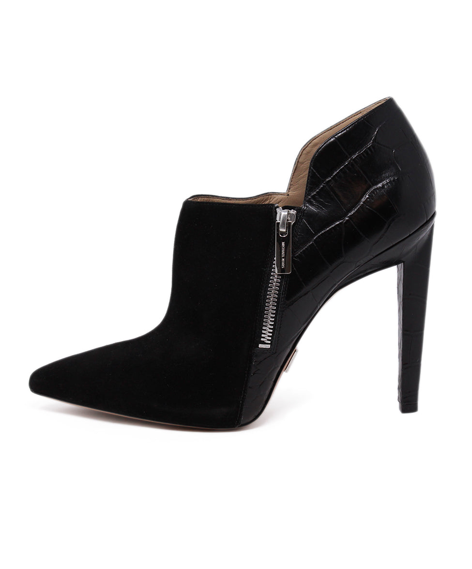 Michael Kors Black Suede Leather Heels 2