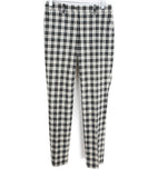 Michael Kors Black White Plaid Wool Pants 1