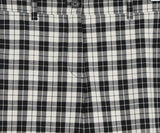 Michael Kors Black White Plaid Wool Pants 4