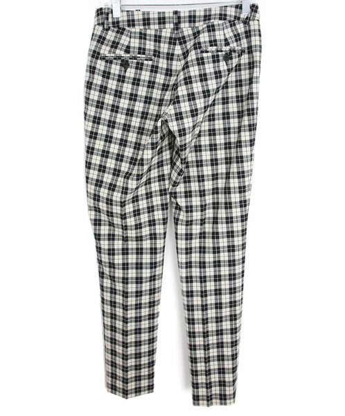 Michael Kors Black White Plaid Wool Pants 2