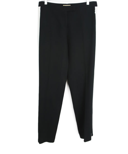Michael Kors Black White Viscose Pants 1