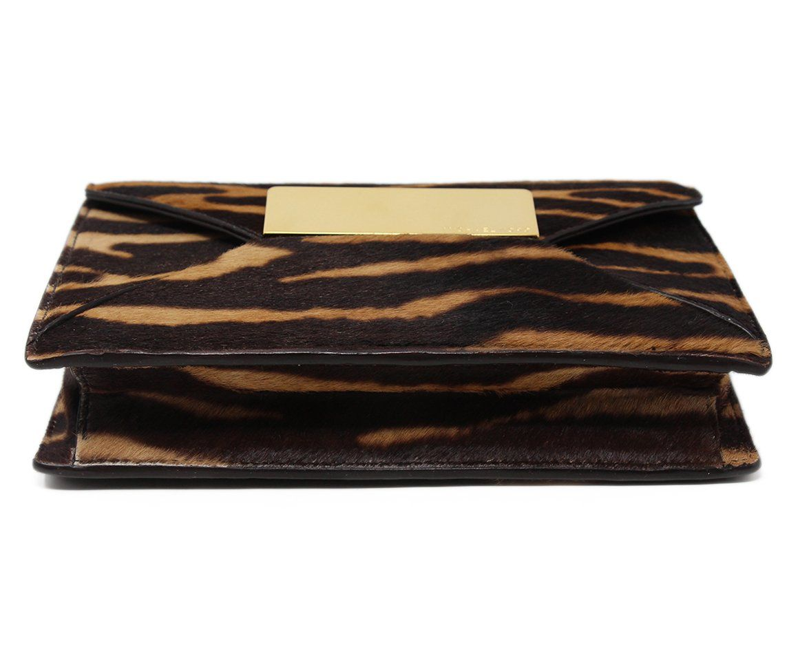 Michael Kors Brown Tan Haircalf Clutch 4