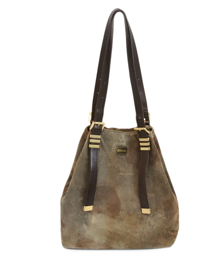 Louis Vuitton Brown Tan Canvas Multi Hand Painted Handbag