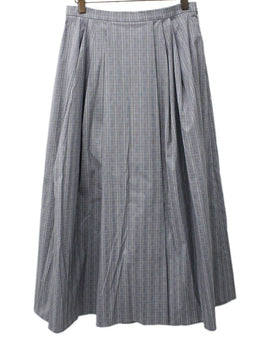 Michael Kors Grey Plaid Cotton Skirt