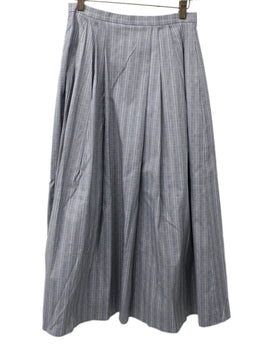 Michael Kors Grey Plaid Cotton Skirt 1
