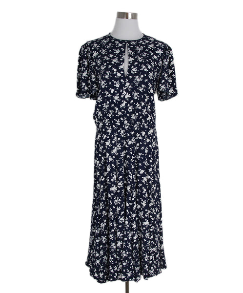 Michael Kors Navy white floral print dress 1