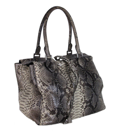 Michael Kors  Neutral Grey Python Tote 1