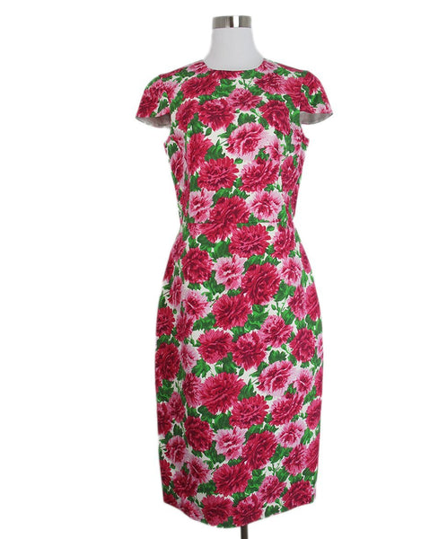 Michael Kors Pink Green Floral Print dress 1