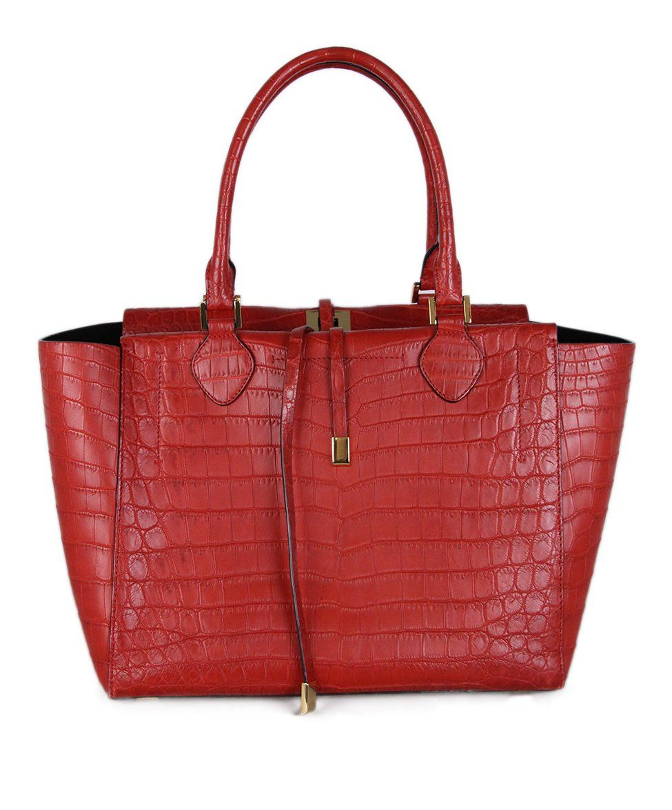 Michael Kors Red Crocodile Tote 3