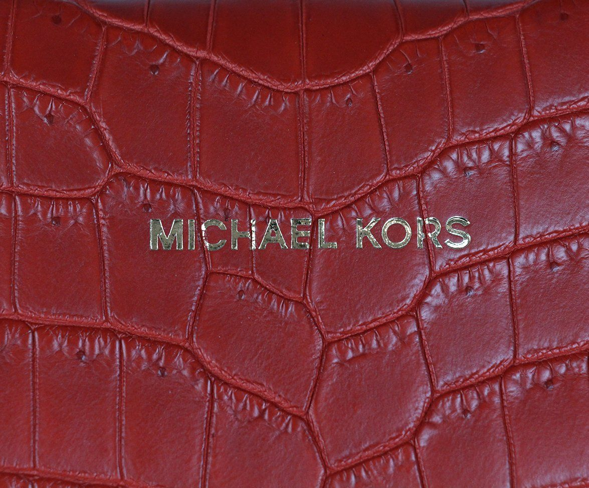 Michael Kors Red Crocodile Tote 7