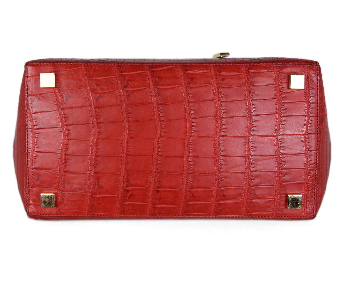 Michael Kors Red Crocodile Tote 4