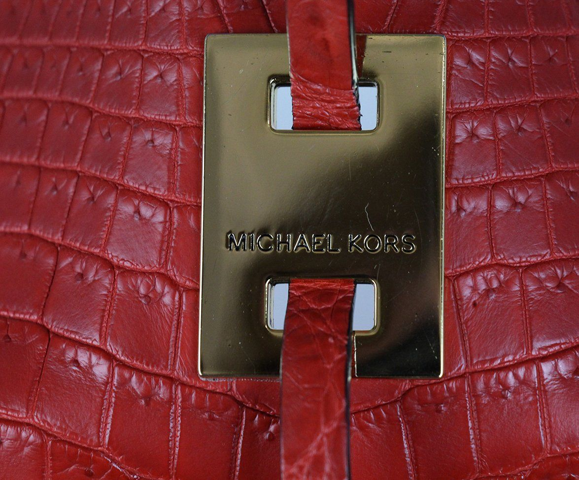 Michael Kors Red Crocodile Tote 8