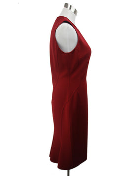 Michael Kors Red Virgin Wool Spandex Dress 2