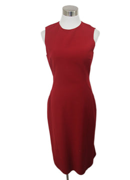 Michael Kors Red Virgin Wool Spandex Dress 1