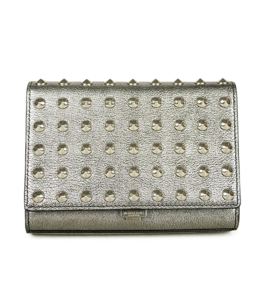 Michael Kors Silver Leather Studs Clutch