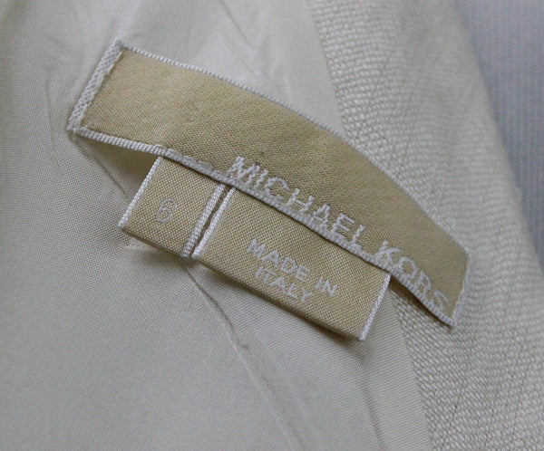 Michael Kors White Cotton Linen Dress 3