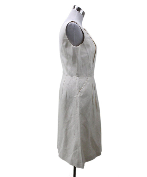 Michael Kors White Cotton Linen Dress 1