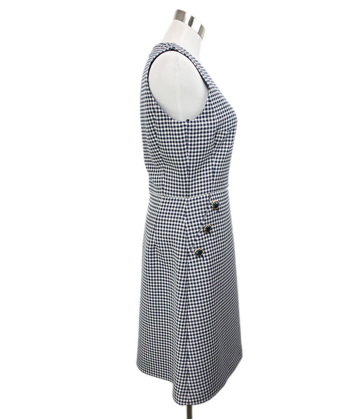 Michael Kors White Navy Check Print Dress 2