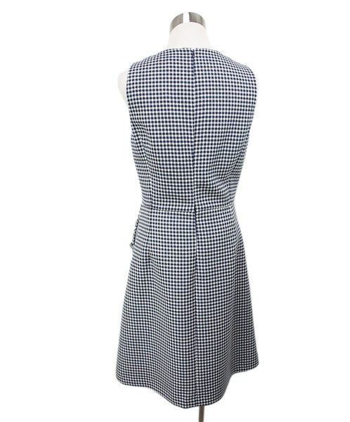 Michael Kors White Navy Check Print Dress 3
