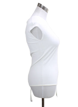 Michael Kors White Viscose Spandex Top 1